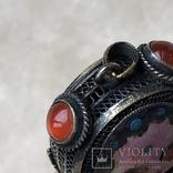 Серебряный кулон/таблетница с эмалями,старый экспортный Китай, фото №11