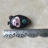 Серебряный кулон/таблетница с эмалями,старый экспортный Китай, фото №12