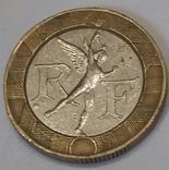 Франція 10 франків, 1988 фото 2