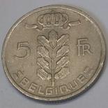Бельгія 5 франків, 1950 фото 2
