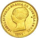 100 Реалов 1855, Испания, фото №2