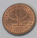 Німеччина 1 пфеніг, 1978 фото 2