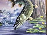 Картина Удачная рыбалка, 50х40 см. Живопись на холсте, фото №4