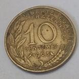 Франція 10 сантимів, 1963