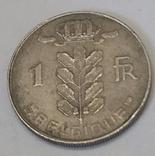 Бельгія 1 франк, 1973 фото 2