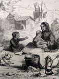 Семья Хейматлоз (3). Приготовление еды. Гравюра (16х11,5), фото №5