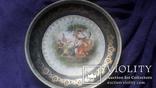 Стариная настенная фарфоровая тарелка старая Вена, фото №2