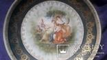 Стариная настенная фарфоровая тарелка старая Вена, фото №3