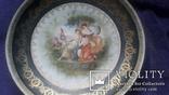 Стариная настенная фарфоровая тарелка старая Вена, фото №6