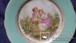 Настенная  фарфоровая тарелка М.С. Кузнецова в Дулеве деколь с дорисовкой, фото №3