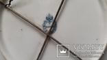 Настенная  фарфоровая тарелка М.С. Кузнецова в Дулеве деколь с дорисовкой, фото №5