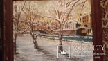 Старинная картина пейзаж,доска,масло, фото №3