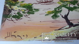 Картина на морскую японскую тему с подписью автора Н.Белоусов, фото №4