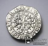Король Неаполю Роберт І «Мудрий» (1309-1343рр.), срібний джильято 1309-1317рр., м.Неаполь, фото №6