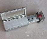 Серебряная помадница с кораллом, фото №4