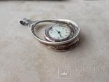 Серебряный кулон-часы, Италия, фото №8