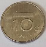 Нідерланди 10 центів, 1986