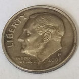 США 1 дайм, 2000