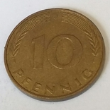 Німеччина 10 пфенігів, 1991