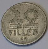 Угорщина 20 філерів, 1974