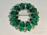 Брошь из СССР с зелёными камнями., фото №10