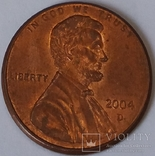 США 1 цент, 2004