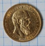 20 марок 1888 года,Фридрих,Пруссия, фото №2