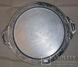 Таця (піднос) кругла, алюмінієва з часів СРСР, фото №5