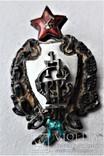 Знак 1е Советские кавалерийские Петроградские командные курсы, РККА, копия, 1920г, №041, фото №3