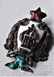 Знак 1е Советские кавалерийские Петроградские командные курсы, РККА, копия, 1920г, №041, фото №13