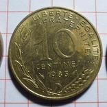Франция. 10 сантимов. 1963, 1983, 1997, фото №4