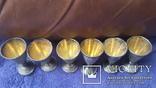 6 серебряных рюмок, фото №4