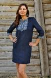 Лаконічний комплект - сорочка з довгим рукавом і жіноче плаття-міні з виразною вишивкою, фото №3