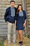 Лаконічний комплект - сорочка з довгим рукавом і жіноче плаття-міні з виразною вишивкою, фото №4