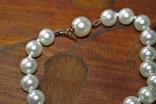 Шикарное ожерелье из жемчуга с красивой застежкой! фото 3