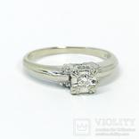 Золотое помолвочное кольцо с бриллиантом, фото №2