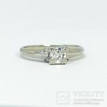 Золотое помолвочное кольцо с бриллиантом, фото №3