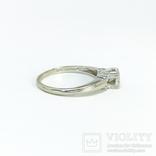 Золотое помолвочное кольцо с бриллиантом, фото №4