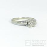 Золотое помолвочное кольцо с бриллиантом, фото №6