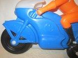 Мотоциклист игрушка новая 40см СССР, фото №4