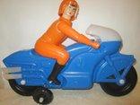 Мотоциклист игрушка новая 40см СССР, фото №6