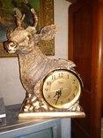 Часы каминные олень кварц, фото №2