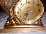 Часы каминные олень кварц, фото №10