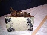 Часы каминные олень кварц, фото №13