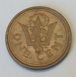 Барбадос 1 цент, 1986