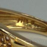Винтажное золотое кольцо с цитринами, фото №6