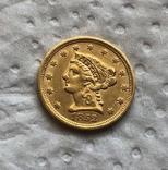 США 2,5 $ 1852 год 4,17 грамм золота 900', фото №2