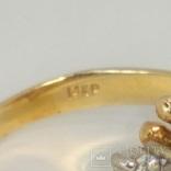 Винтажное золотое кольцо с натуральными сапфирами и бриллиантами, фото №7