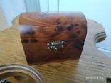Сундучок шкатулка из дерева, фото №2