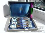 Набор коллекционных ложечек с эмалью., фото №2